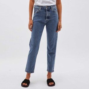 BASSIKE Classic Crop Button Fly Jeans